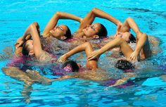 water ballet images | Water ballet: the world synchronised swimming championships in Rome