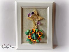 Quilling Star of Bethlehem flowers/wall hanging