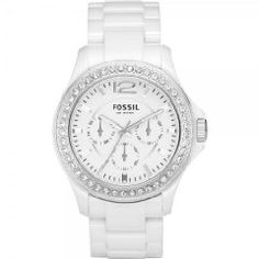 FOSSIL Damen Multifunktionsuhr CE1010 Ladies Sport Keramik