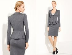 Perfect for the #Office. Grey #Work #Attire #Professional #Business #Fashion idea for working women.