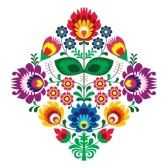 Similar:19693404 : Folk embroidery with flowers - traditional polish pattern