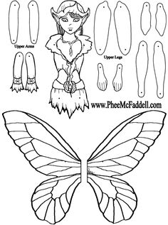 Peep Fairy Puppet to Color, Cut Out, & Assemble