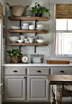 shanty2chic dining room floating shelves by @myneutralnest ...