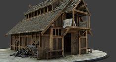 Game Of Thrones Westeros, Norwegian House, Viking House, Polygon Modeling, Viking Village, Fantasy House, Ms Gs, Skylight, Vikings