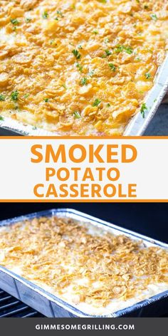 Smoked Potato Casserole is a delicious side dish that is made on you Traeger ele. - Smoked Potato Casserole is a delicious side dish that is made on you Traeger electric smoker! We lo - Smoker Grill Recipes, Smoker Cooking, Grilling Recipes, Cooking Brisket, Electric Smoker Recipes, Bbq Recipes Sides, Cooking Ham, Cooking Turkey, Traeger Recipes