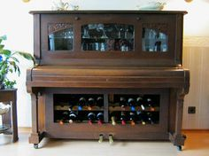 If your #piano has seen better days, why not turn it into a #bar?                                                                                                                                                                                 More