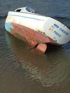 Beached boat The Strand Gillingham by Simon Bolton UK, via Flickr