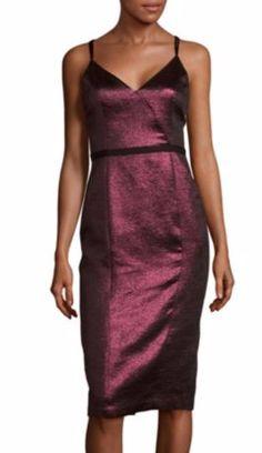 7a39b78472734 Cinq à Sept Soleil Metallic V-Neck Dress