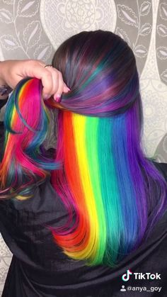door Anya Goy Trendfrisuren Joe, akkurater Mittelscheitel oder People from france Cut Perish Peekaboo Hair Colors, Hair Color Purple, Hair Dye Colors, Cool Hair Color, Rainbow Hair Colors, Green Hair, Black Hair, Hidden Hair Color, Hidden Rainbow Hair