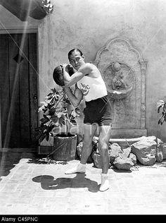 Rudolph Valentino playing ball