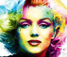Portrait Marilyn Monroe, mixed media by Patrice Murciano