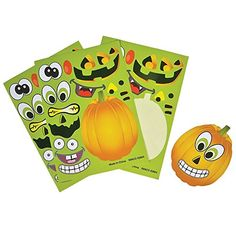 Kids' Stickers - Make Your Own Jack O Lantern Halloween Sticker Set Package of 12 Sticker Sheets -- Find out more about the great product at the image link.