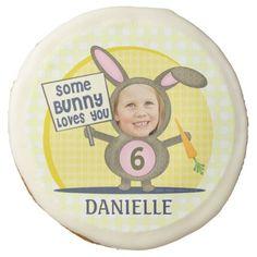 #Custom Photo #Birthday Bunny Sugar #Cookie