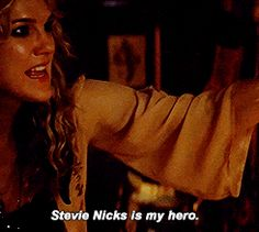"""She's also the biggest Stevie Nicks fangirl that ever existed and it's adorable. 