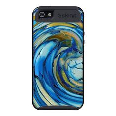 Blue N Gold Abstract Dolphin iPhone 5 case