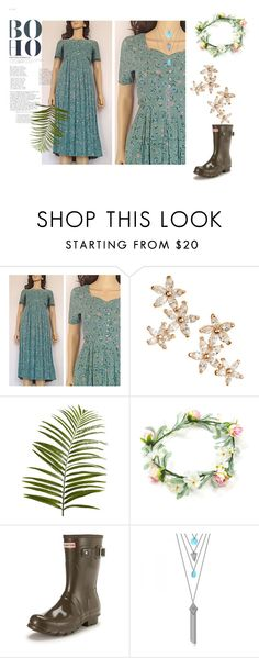 """""""Boho floral maxi dress"""" by maincoursevintage on Polyvore featuring Bonheur, Pier 1 Imports, Hunter and vintage"""