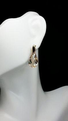 Golden Helix Swarovski Post Earring by KSJeweler on Etsy, $34.99