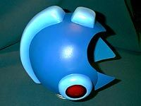 Megaman helmet made of fiberglass