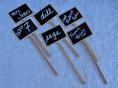 12 Chalkboard Wedding Table Numbers  Chalkboard by glassactsupply, $18.00