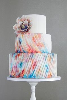 Gorgeous Textured Wedding Cakes ❤ See more: www.weddingforwar… Gorgeous Textured Wedding Cakes ❤ See more: www. Crazy Cakes, Fancy Cakes, Cute Cakes, Pretty Cakes, Pink Cakes, Textured Wedding Cakes, Beautiful Wedding Cakes, Gorgeous Cakes, Amazing Cakes