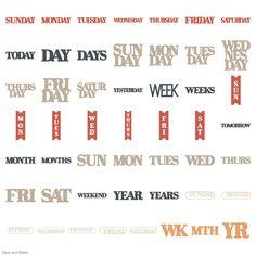 Cricut Days and Dates Garden Of Words, Cricut Fonts, Dates, Lyrics, Bullet Journal, Date, Song Lyrics, Music Lyrics