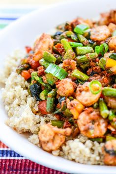 Spicy Pesto Shrimp Primavera is a restaurant-inspired, mildly spicy, flavorful Shrimp and vegetable dish with a Sun-Dried Tomato Pesto with Parmesan cheese.