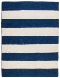 Cape Neddick Wool Berber Striped Rug | Maine Cottage