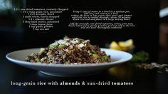 long-grain rice with almonds & sun-dried tomatoes #vegan