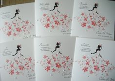 Personalised Thank you Bridesmaid Cards. Maid of Honour, Matron of Honour, Chief Bridesmaid, Flower Girl on Etsy, $5.00
