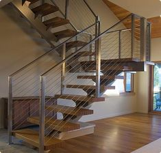 handrails for inside staircases | Our custom design, fabrication and installation includes: