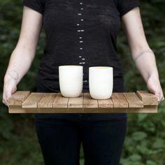 Image of Slatted Wood Tray