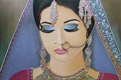 Kleurrijk Schilderij Portret