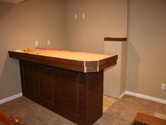 Simple Bar Rail Molding Design ~ http://lovelybuilding.com/bar-rail-molding-in-your-dining-room/
