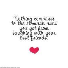 Nada se compara con el dolor de tripa que se obtiene cuando estás con tus mejores amigos!!! buena frase!!! Gracias a todos por hacerme reir cada día!!!    Lo mejor: La risa con los amigos | Laughter with Friends