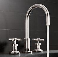 "Sutton 8"" Widespread Faucet Set from Restoration Hardware.  $379.00.  For Powder Bath."
