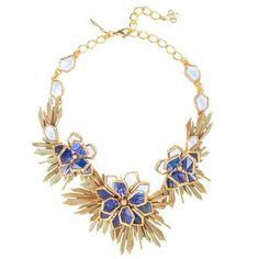 Oscar de la Renta Wild Flower Necklace | From a unique collection of vintage…