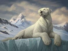I love Naga so much I want ma own polar bear dog. ( #polarbear n #lab lover) *hint* #Naga #LOK