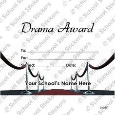 This drama achievement certificate features comedy and tragedy drama certificate for those theatre loving students who thrive in drama class yadclub