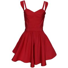 Funlayo Deri Red Flared Silk Faille Dress ($780) ❤ liked on Polyvore featuring dresses, red fit and flare dress, red cut out dress, red dress, cutout dress and zipper dress