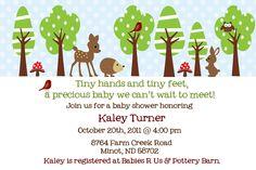 winter forest friends baby shower invitation. $12.00, via Etsy.