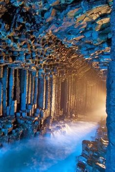 The Fingal's sea cave in the Hebrides Islands of Scotland is a huge natural formation, discovered in the 17th century and called after an Irish legendary hero. Impossible not to feel like the hero of a tale walking its surroundings.