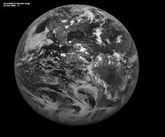 First fulldisk visible image from GOES-13  on 22 June 2006 1730-1800 UTC