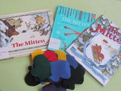 """I have three different versions of """"The Mitten"""" book. Each book presents the same story from three slightly different perspectives. I brought all three of my mitten books to share with the kids. You can purchase each of these books here. Preschool Literacy, Preschool Books, Early Literacy, Literacy Activities, Teach Preschool, Preschool Winter, Preschool Ideas, Kindergarten, Kids Singing"""