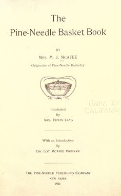 The pine-needle basket book