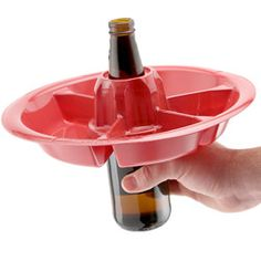 The Go Plate 10 Pack - Red - Reusable Food & Beverage Holder Great place for all kinds of products for parties.