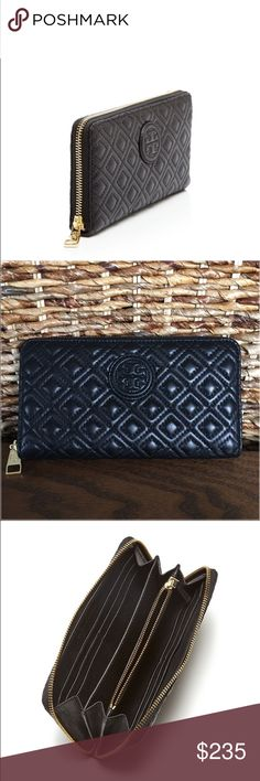 Tory Burch Marion Quilted Zip Continental Wallet Tory Burch Marion Quilted Zip Continental Wallet.  New with tags.  Plush quilting and a signature logo plaque capture classic Tory Burch style for this ziparound continental wallet. Tory Burch Bags Wallets