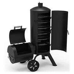 Dyna-Glo Heavy-Duty Vertical Offset Charcoal Smoker and Grill at Lowe's. Get the best of both worlds with the Signature Series heavy-duty vertical offset charcoal smoker and grill from Dyna-Glo. This multi-functional smoker Best Offset Smoker, Best Smoker Grill, Bbq Grill, Gas And Charcoal Grill, Charcoal Smoker, Outdoor Grill, Outdoor Cooking, Drum Smoker, Gas Smoker