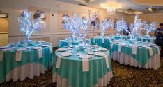 Winter Tree Centerpiece with LED Wrapped Branches & Crystals