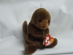 Ty Beanie Baby Original Seaweed OTTER w/ Tag Easter Gift