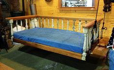 the rails on this bed came from The Painted Lady teahouse, Norfolk VA!!! i frequented the establishment, luved it, and saw the show where Black Dog picked them.....blackdogsalvage.com